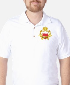 Gold Bahrain Golf Shirt