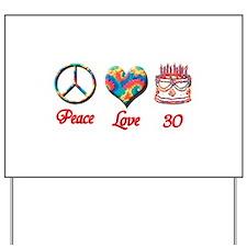Cute Happy 30th birthday Yard Sign