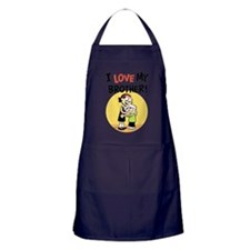 I Love My Brother! Apron (dark)
