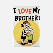 I Love My Brother! Rectangle Magnet