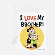 I Love My Brother! Greeting Card