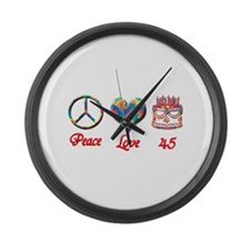 Unique Forty Large Wall Clock