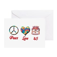 peace love 45 Greeting Cards