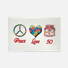 Cute 50th birthday Rectangle Magnet (100 pack)