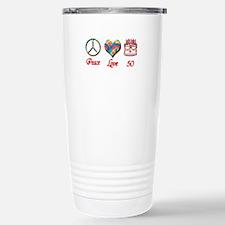 Cute Happy fiftieth birthday Travel Mug