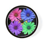 Four African Daisy Wall Clock