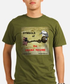 OBAMA REGIME SYMBOLS Organic Men's T-Shirt (dark)