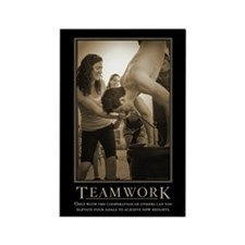 Teamwork Rectangle Magnet