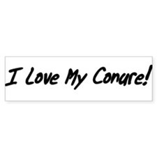 I Love My Conure! Bumper Sticker (white)