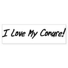 I Love My Conure! Bumper Sticker (white)