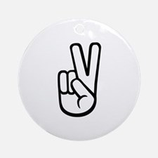 Peace hand Ornament (Round)