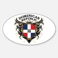 Dominican Republic Sticker (Oval)