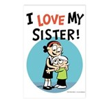 I Love My Sister! Postcards (Package of 8)