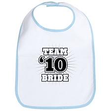 Black 10 Team Bride Bib