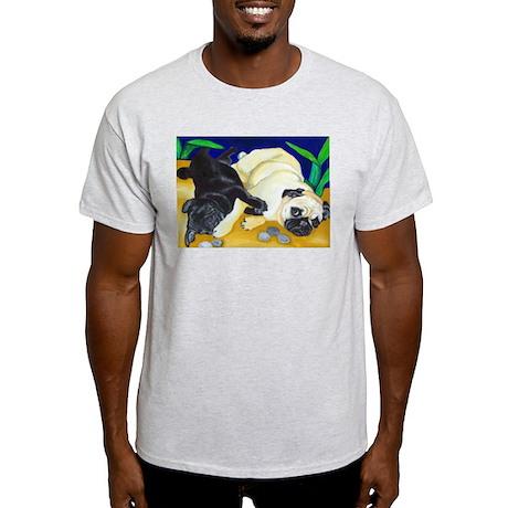 Pug Play Ash Grey T-Shirt