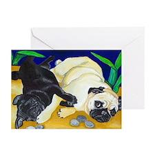 Pug Play Greeting Cards (Pk of 10)