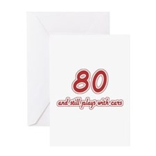 Car Lover 80th Birthday Greeting Card