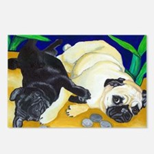 Pug Play Postcards (Package of 8)