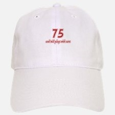 Car Lover 75th Birthday Baseball Baseball Cap