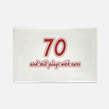 Car Lover 70th Birthday Rectangle Magnet