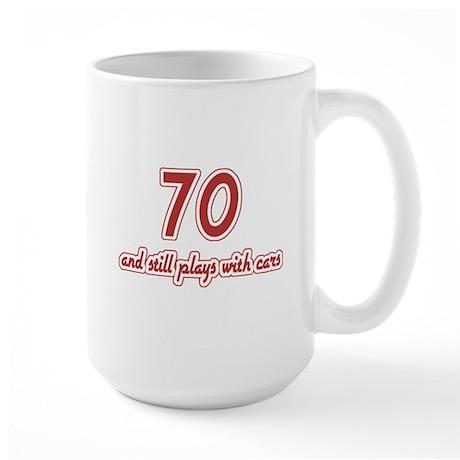 Car Lover 70th Birthday Large Mug