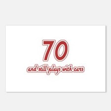 Car Lover 70th Birthday Postcards (Package of 8)