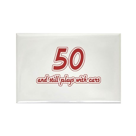 Car Lover 50th Birthday Rectangle Magnet