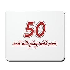Car Lover 50th Birthday Mousepad