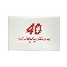 Car Lover 40th Birthday Rectangle Magnet