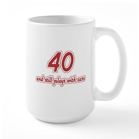 Car Lover 40th Birthday Large Mug