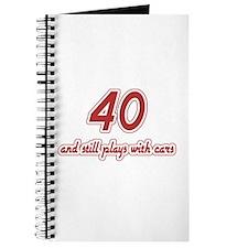 Car Lover 40th Birthday Journal
