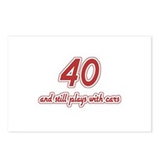 Car Lover 40th Birthday Postcards (Package of 8)