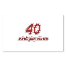 Car Lover 40th Birthday Decal