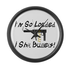 So Loaded Large Wall Clock