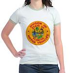 Florida Divison of Motor Vehi Jr. Ringer T-Shirt