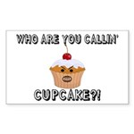 Don't Call Me Cupcake Sticker (Rectangle 50 pk)