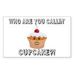 Don't Call Me Cupcake Sticker (Rectangle 10 pk)