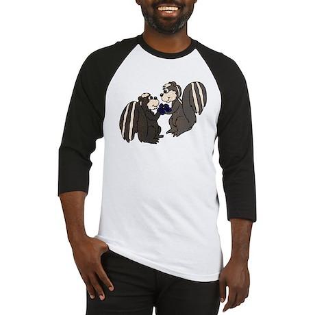 Skunk Love with Flower Baseball Jersey