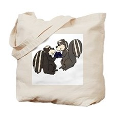 Skunk Love with Flower Tote Bag