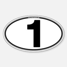 Number One Oval (1) Decal