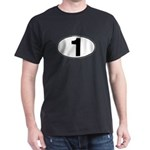 Number One Oval (1) Dark T-Shirt