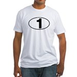 Number One Oval (1) Fitted T-Shirt