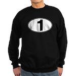 Number One Oval (1) Sweatshirt (dark)