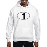 Number One Oval (1) Hooded Sweatshirt