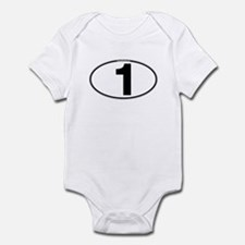 Number One Oval (1) Infant Bodysuit