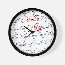 C'thulu Fhtagn Wall Clock