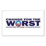 Change for the Worst Sticker (Rectangle 50 pk)