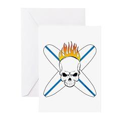 Surf Skull Greeting Cards (Pk of 10)