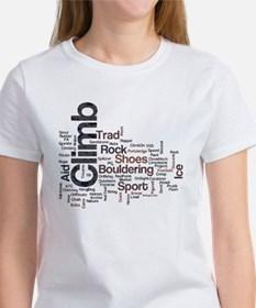 Climbing Words Women's T-Shirt