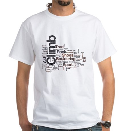 Climbing Words White T-Shirt